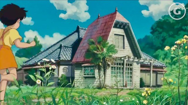 Satsuki and Mei's House from the Studio Ghibli film My Neighbor Totoro. Featured in the anime.