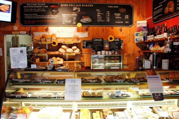 Inside Kiki's Bakery located in oita