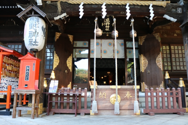 Praying place in a japanese temple or shrine.