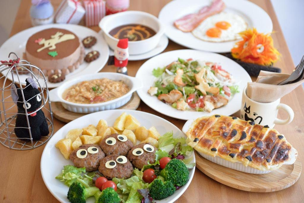 Picture of the Studio Ghibli themed menu at Baby King Kitchen Tokyo.