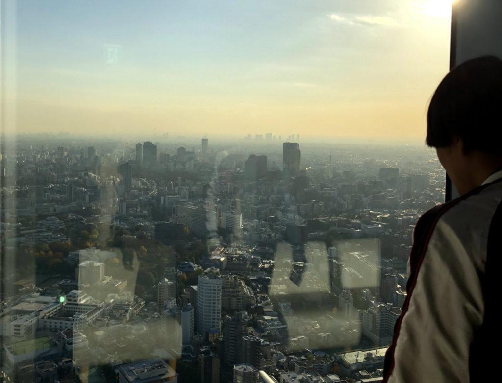 Roppongi hills view of Tokyo.