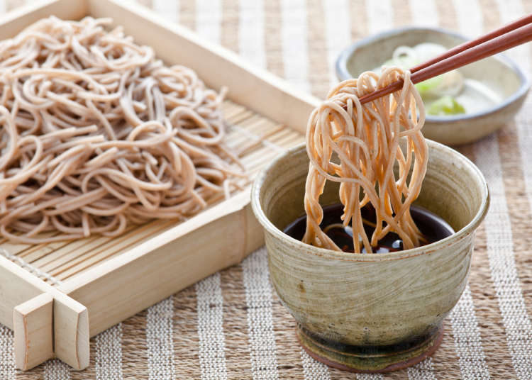 Picture of soba dipping noodles eaten during New Year in Japan