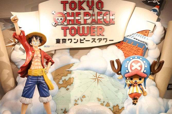 Tokyo One Piece Tower with Life size Luffy model.