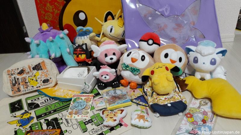 Contents of a pokemon fukubukuro sold in Tokyo.