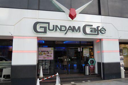 Gundam cafe in Tokyo