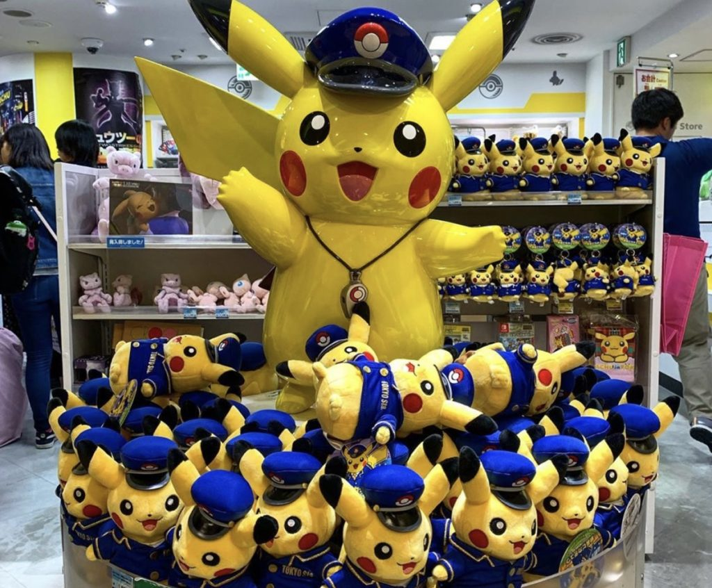 entrance of pokemon store