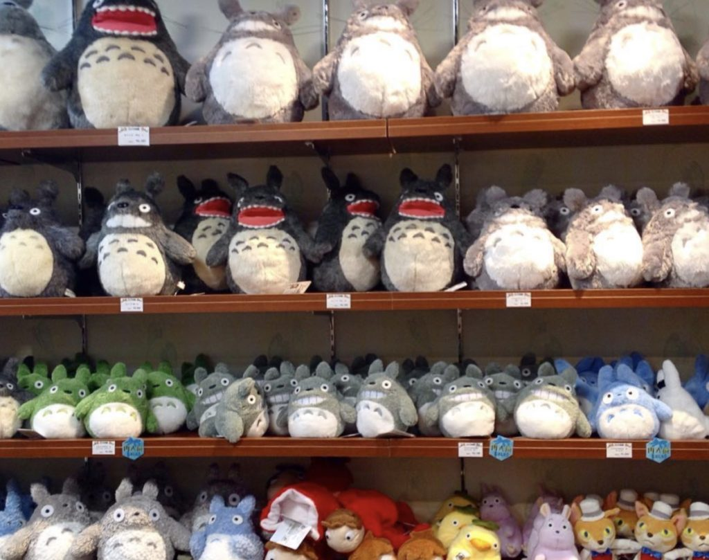 studio ghibli plushies in the store