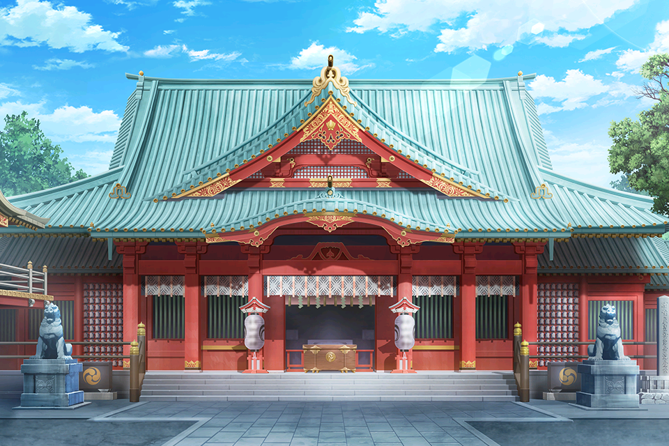 Kanda shrine in the anime Love Live!